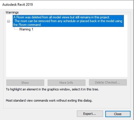 Autodesk Revit Informative Warning message | AGACAD