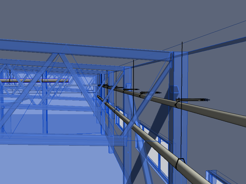 supports for MEP in Autodesk Revit placed on structural by AGACAD BIM software