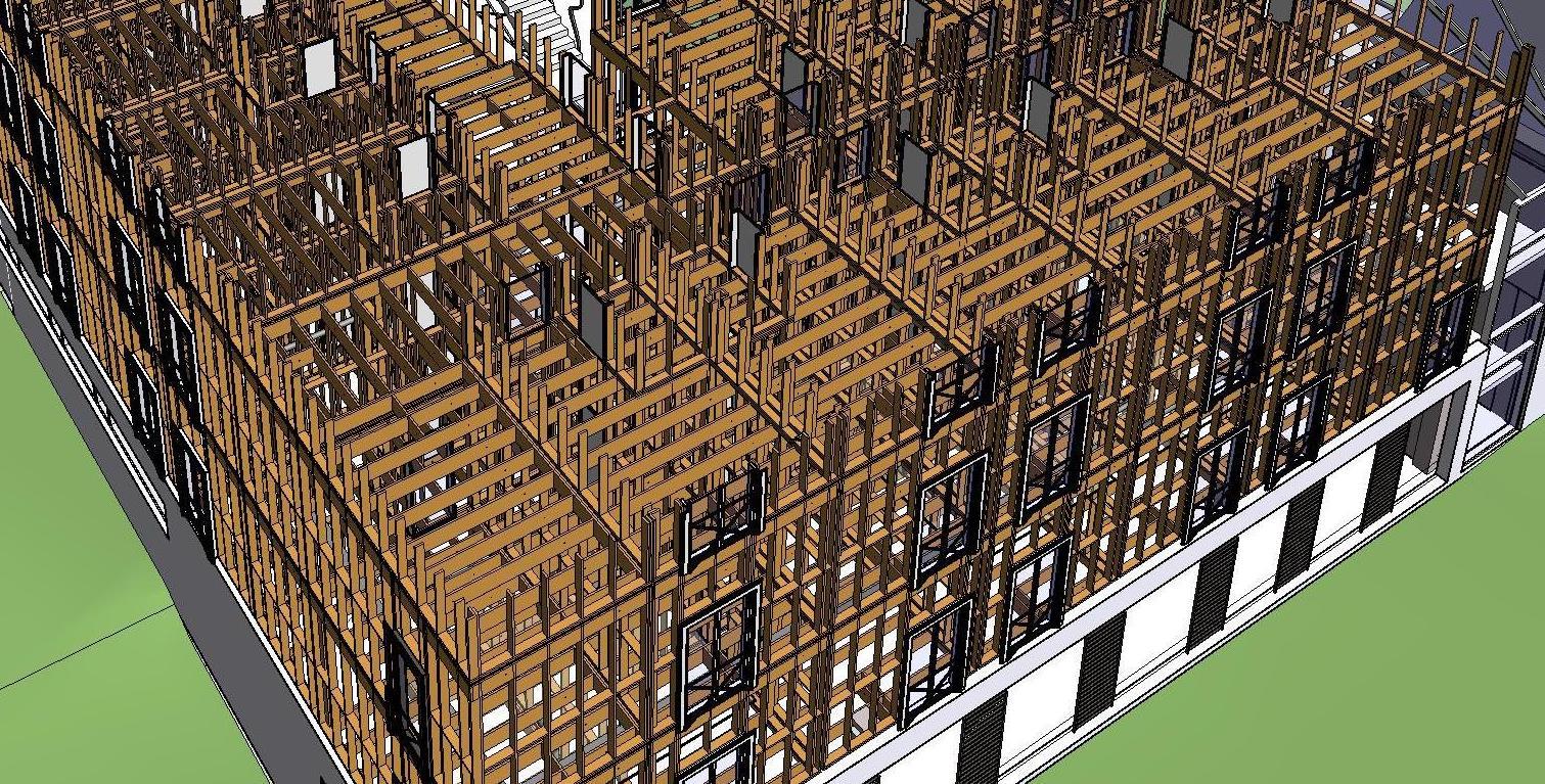Desing of timber frame house using BIM software | AGACAD