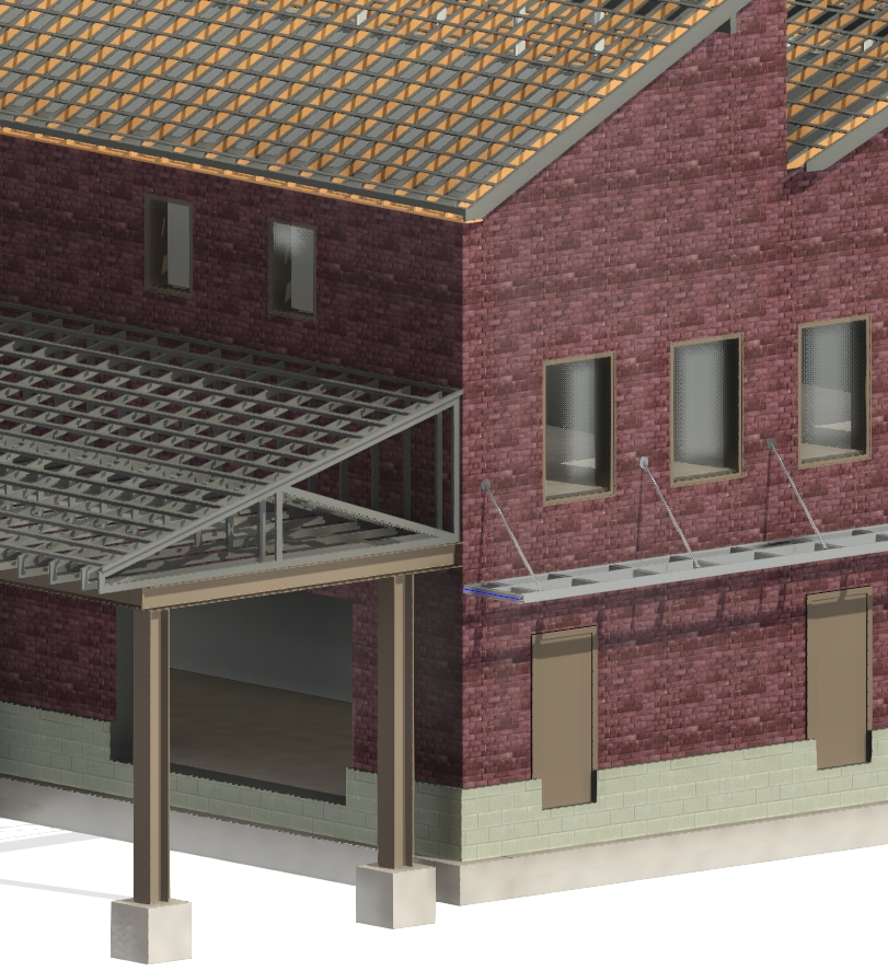 use AGACAD Roof Framing BIM tool in the context of existing structural support elements