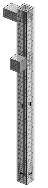 rebar modeled in precast concrete column using AGACAD Column Reinforcement tool for Revit