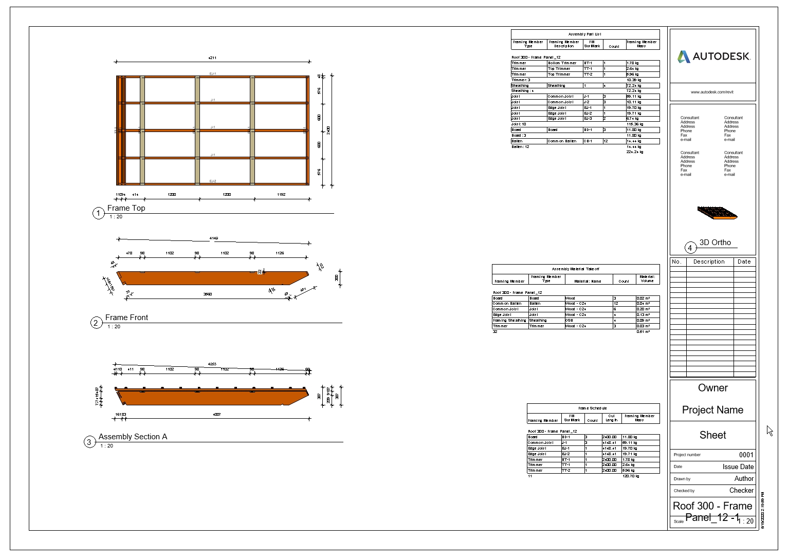 generate views, dimensions, tags, and schedules in the blink of an eye using AGACAD Roof Framing BIM tools for Autodesk Revit