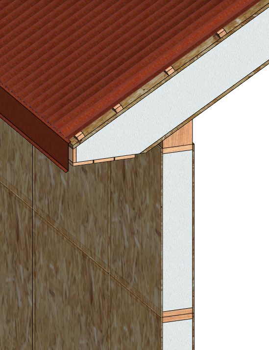 wall-roof join in Autodesk Revit | AGACAD Wood Framing SIPS BIM design software