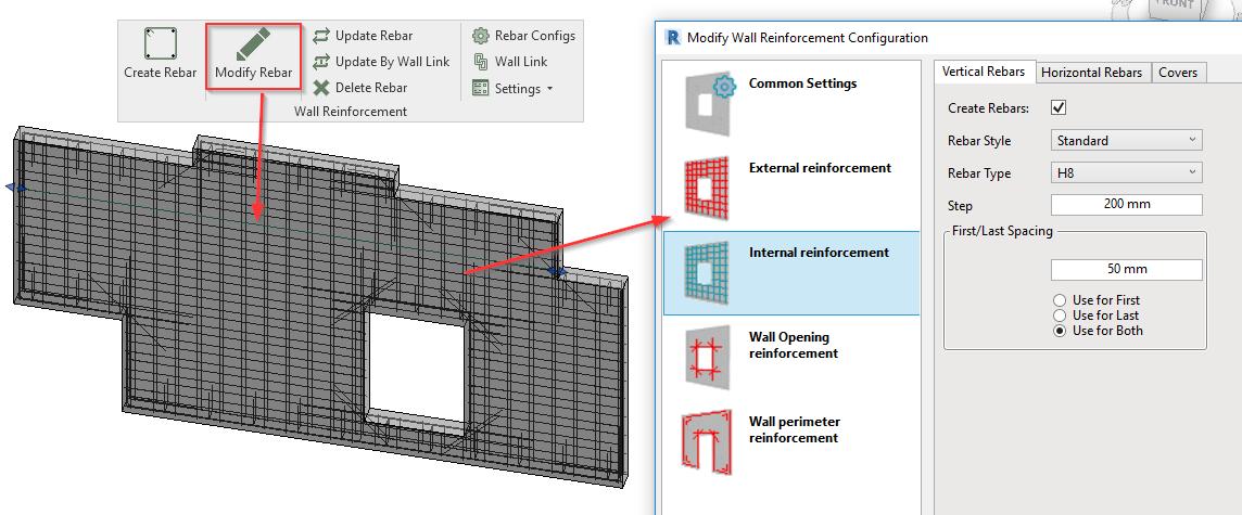 Modify reinforcement of prefabricated walls in Revit models | AGACAD