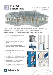 AGACAD Metal Framing Suite brochure