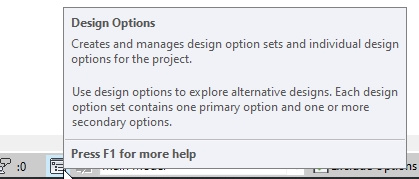 Design Options hover help in Autodesk Revit | AGACAD