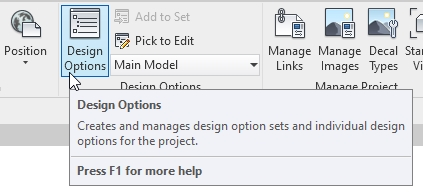 Design Options command in Autodesk Revit | AGACAD