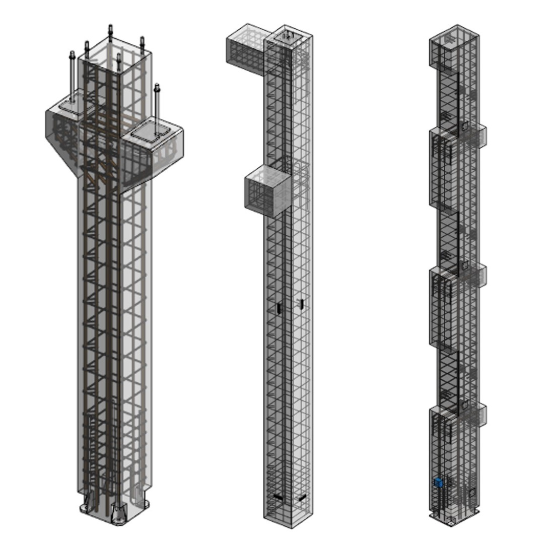 Structural design of reinforced concrete columns in Revit | AGACAD