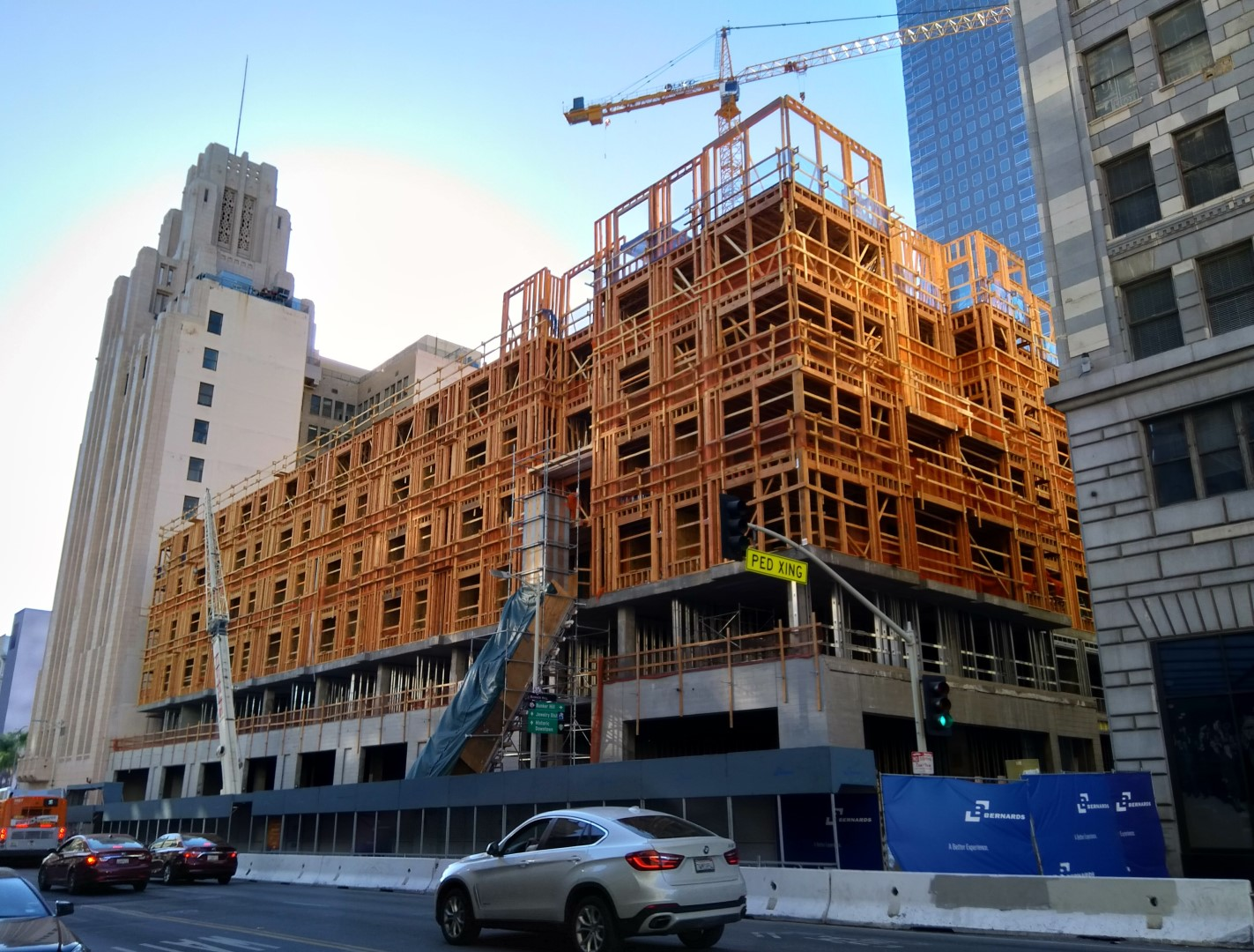 Timber-frame building construction in Los Angeles (USA) | AGACAD