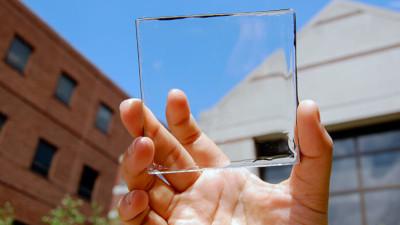 transparent solar glass panel