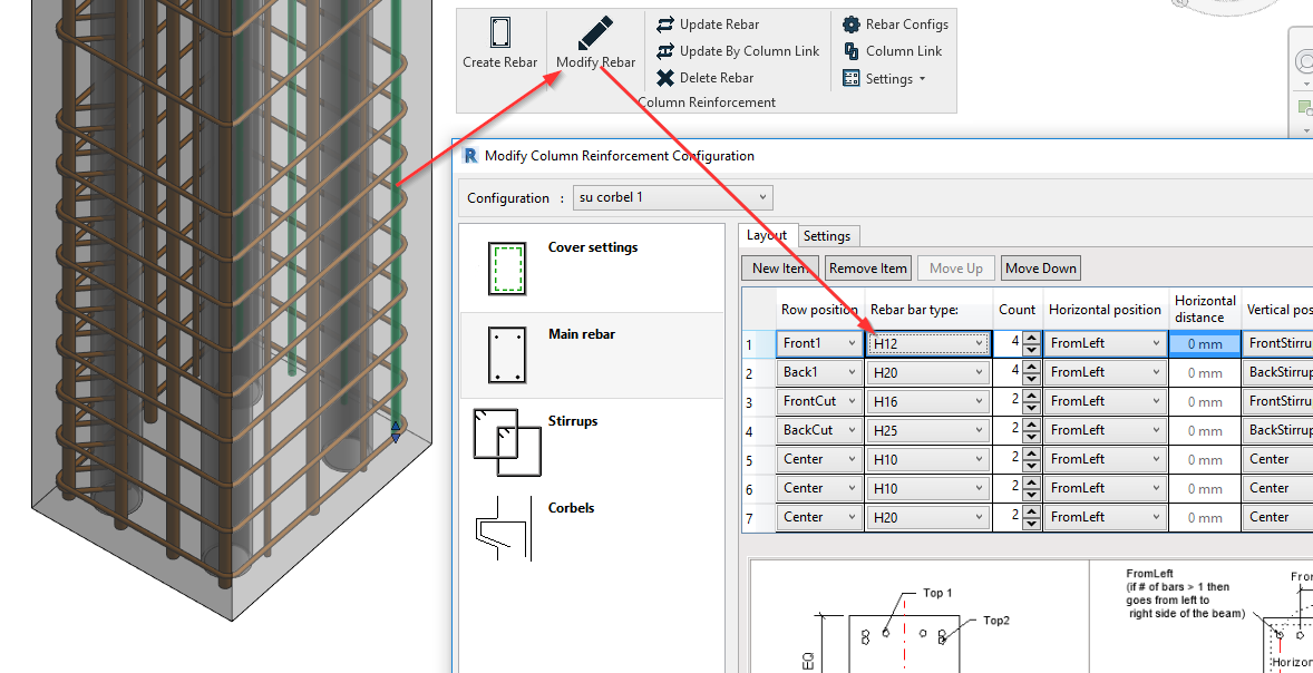 Modify structural RCC column reinforcement in Revit | AGACAD