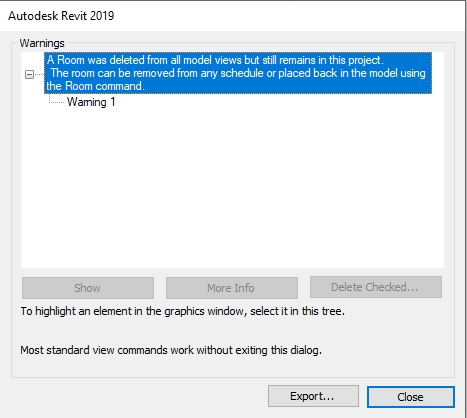 Autodesk Revit Informative Warning message   AGACAD
