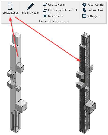 Create RCC column reinforcement details precisely in Revit |AGACAD