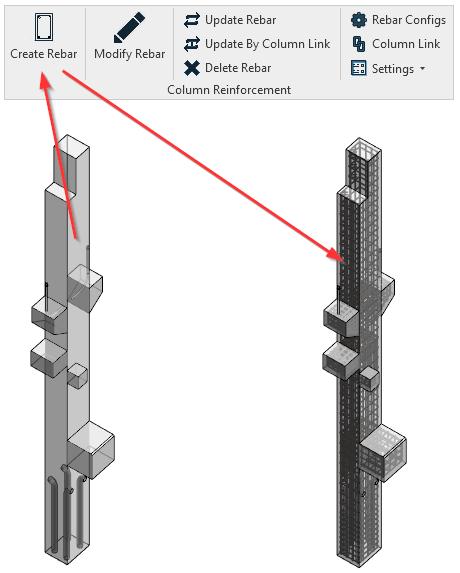 Create RCC column reinforcement details precisely in Revit |AGACAD