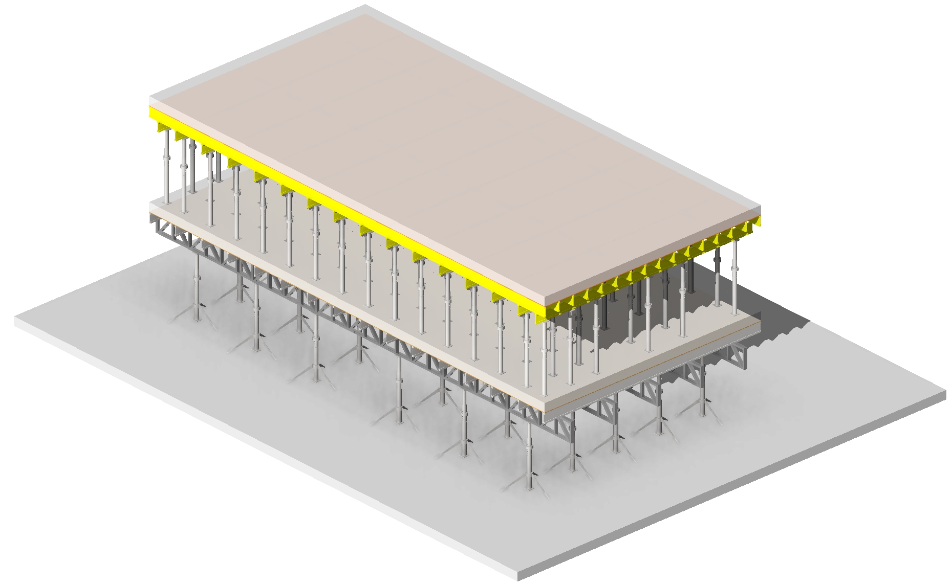 Model formwork for concrete slabs in Autodesk Revit using AGACAD Wood & Metal Framing BIM software