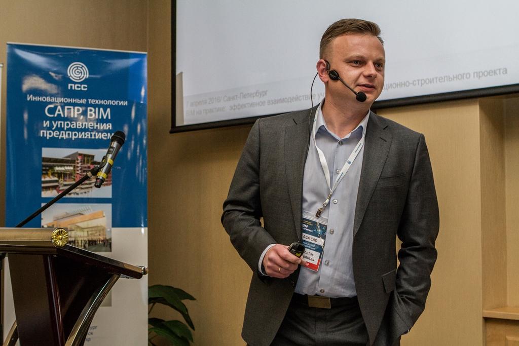 Donatas Aksomitas, AGACAD CEO at Practice BIM 2016 conference
