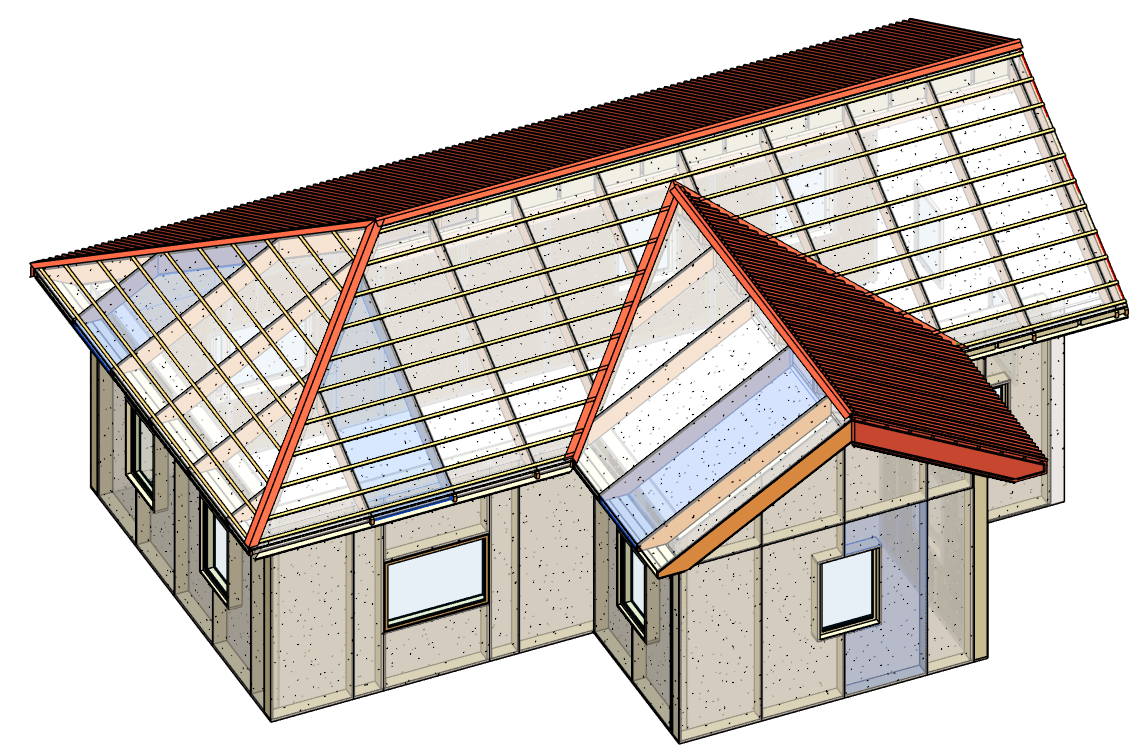 Automated design of SIPs for Walls, Floors & Roofs in Revit