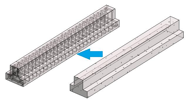 inserting rebar in an inverted T beam in Revit