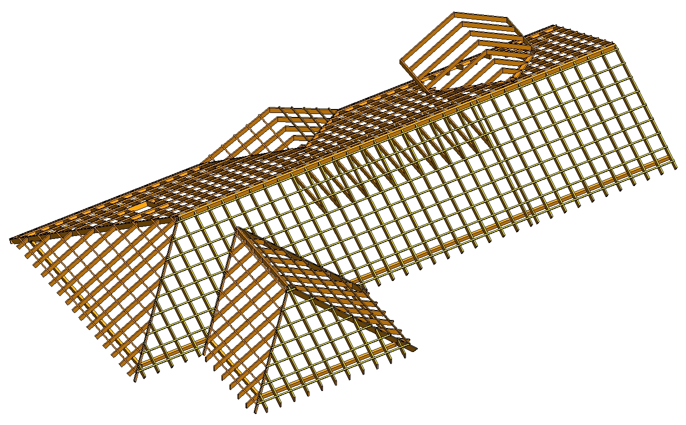 Configure rafter systems for framing dormers and hip ends in Autodesk Revit using AGACAD Roof Framing BIM tools
