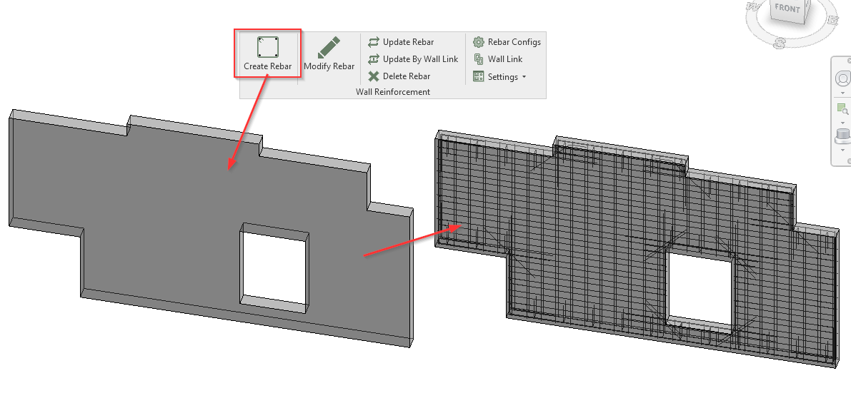 Create reinforcement of precast concrete solid or multi-layer walls in Revit | AGACAD