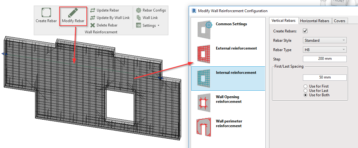 Modify reinforcement of prefabricated walls in Revit models | AGACAD
