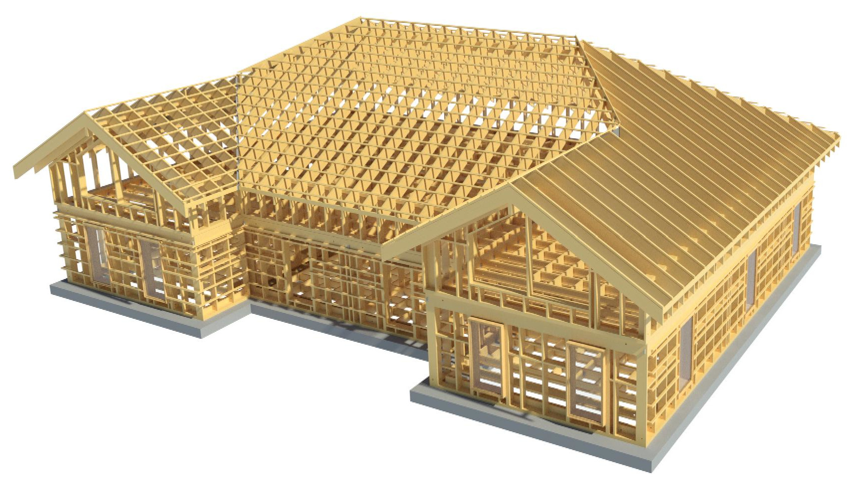timber framed house in Autodesk Revit using AGACAD Wood Framing Suite BIM design software