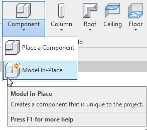 Model In-Place Command in Autodesk Revit | AGACAD