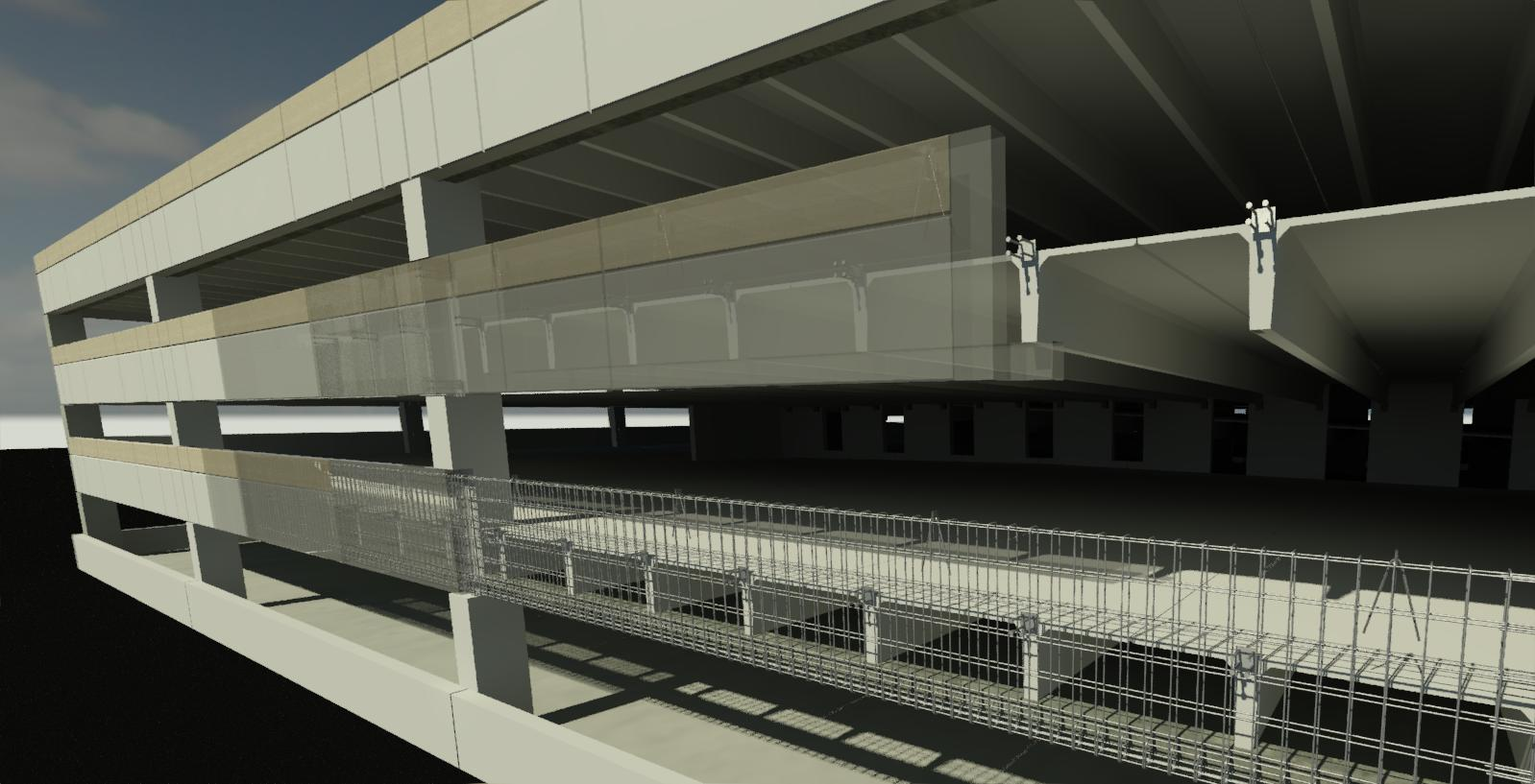 Parking Garage designed using AGACAD's Precast Concrete design software for Autodesk Revit