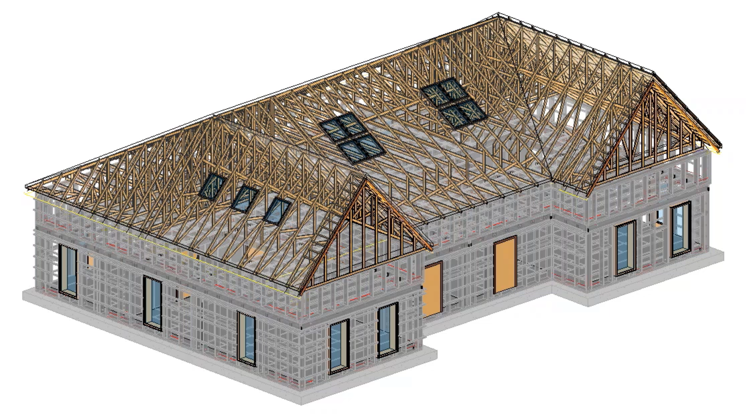 Use various truss types in the same roof in Autodesk Revit using AGACAD Roof Framing BIM tools
