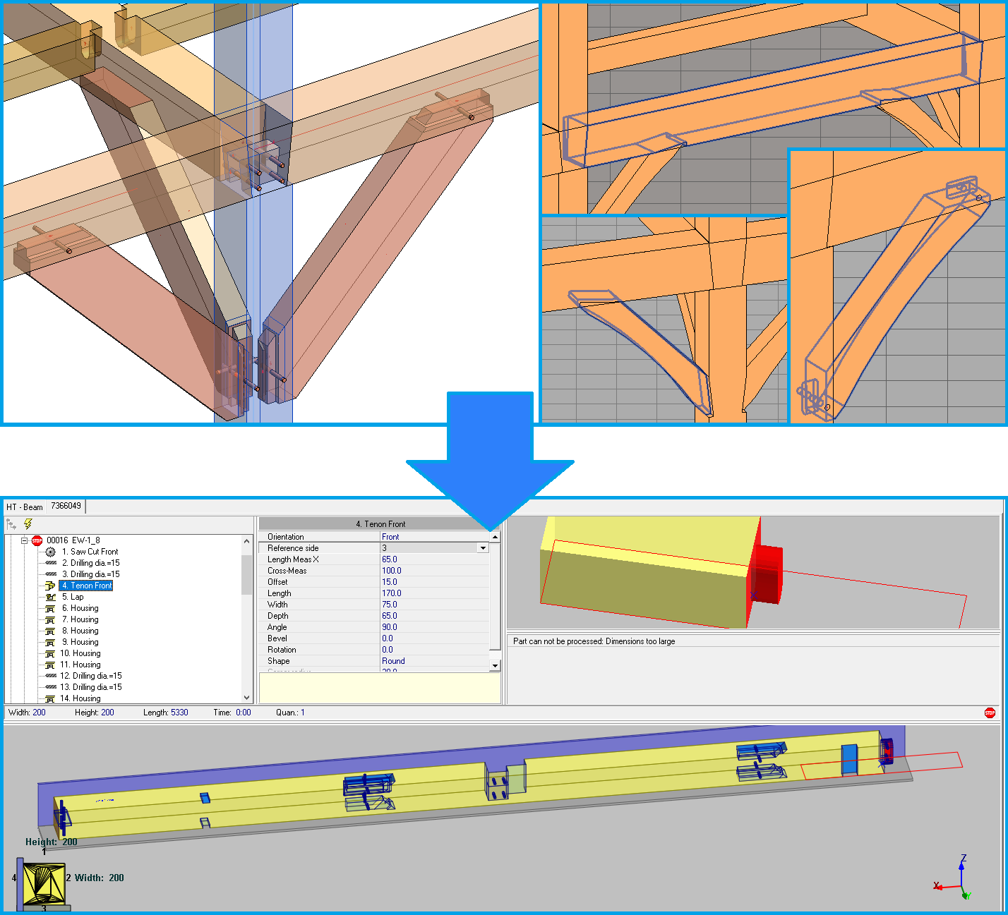 Heavy Timber export from Revit to CNC | AGACAD Wood Framing OAK BIM software