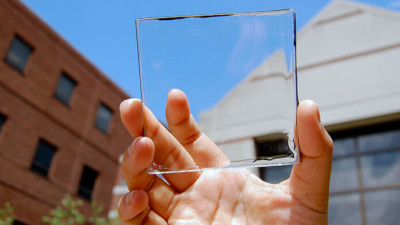 transparent solar glass panel